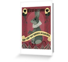 the half hearted woman  Greeting Card