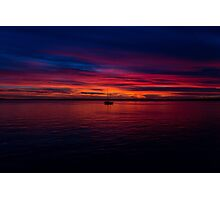 Boat in a Sunset Photographic Print