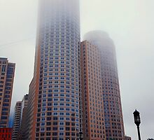 Foggy skyscrapers by psychoshadow