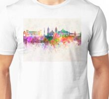 Mexico City V2 skyline in watercolor background Unisex T-Shirt