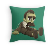 Nietzsche doll for truly lovers - glitch videogame Throw Pillow