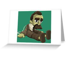 Nietzsche doll for truly lovers - glitch videogame Greeting Card