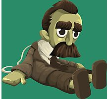 Nietzsche doll for truly lovers - glitch videogame Photographic Print