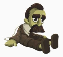 Nietzsche doll for truly lovers - glitch videogame Kids Tee