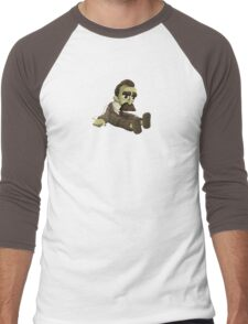 Nietzsche doll for truly lovers - glitch videogame Men's Baseball ¾ T-Shirt
