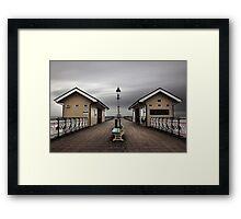 Bleak Penarth Pier Framed Print