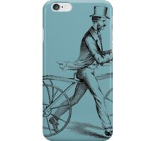 vintage cyclist iPhone Case/Skin