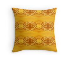 Golden Hibiscus Abstract Pattern Throw Pillow
