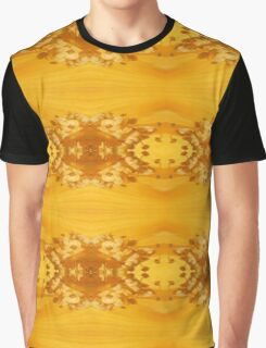 Golden Hibiscus Abstract Pattern Graphic T-Shirt