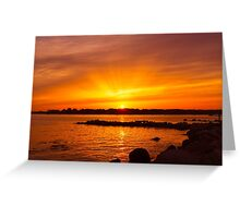 Radiant Setting Greeting Card