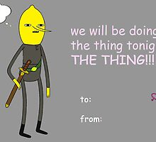 Adventure Time - Earl of Lemongrab Valentine Hearts by jelemeno