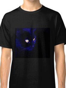 Black Cat With Haunting Halloween Eyes Classic T-Shirt