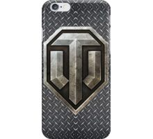 World of Tanks (WoT) logo with steel background iPhone Case/Skin