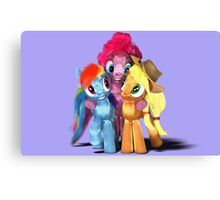MLP 3D - Group Hug #2 Canvas Print