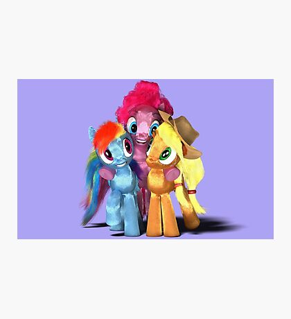 MLP 3D - Group Hug #2 Photographic Print