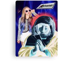 Holy Mary Vaporwave Canvas Print