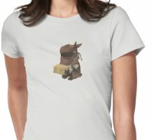 Inhabitant vendor - glitch videogame Womens Fitted T-Shirt