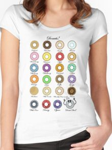 Donuts Statistics. Women's Fitted Scoop T-Shirt