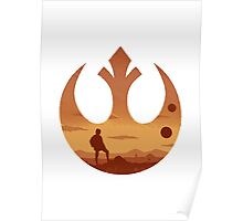 Rebel Alliance (white) Poster