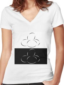 Abstract eggs Women's Fitted V-Neck T-Shirt