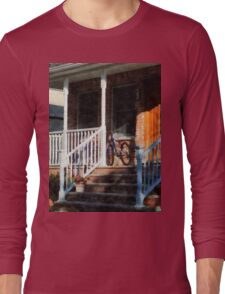 Bicycle on Porch Long Sleeve T-Shirt