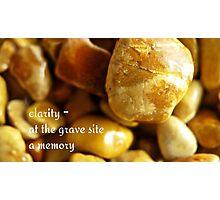 memorial stones Photographic Print