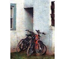 Bicycles in Yard Photographic Print