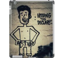 Nothing to declare iPad Case/Skin