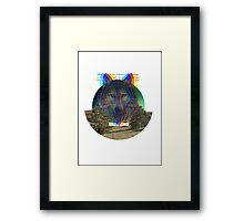 Wolf Hologram  Framed Print