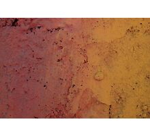 Red and Yellow Wall Photographic Print