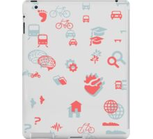 Urban mobility icons vol b / Iconos movilidad urbana iPad Case/Skin
