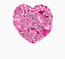 PINK ROSE HEART METALLIC COLLECTION Women's Relaxed Fit T-Shirt