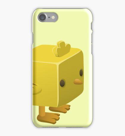 Cubimal chicken - glitch videogame iPhone Case/Skin