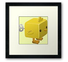 Cubimal chicken - glitch videogame Framed Print