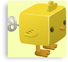 Cubimal chicken - glitch videogame Canvas Print