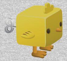 Cubimal chicken - glitch videogame One Piece - Long Sleeve