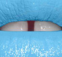 Blue Lipstick Sticker