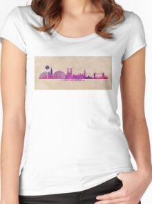 London skyline city  Women's Fitted Scoop T-Shirt