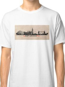London skyline city black Classic T-Shirt