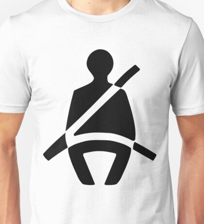 Seatbelt Symbol Unisex T-Shirt