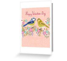 Love Birds flowers floral bouquet cute birding gift Andrea Lauren  Greeting Card