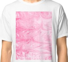 Momo - pink pastel spilled ink marbled paper marbling marbled trendy map topography water ocean waves Classic T-Shirt