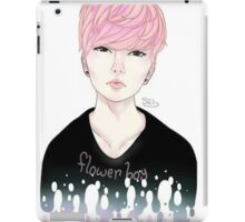 Pink Korean Flower Boy iPad Case/Skin