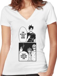 I'm Always This Kind Women's Fitted V-Neck T-Shirt