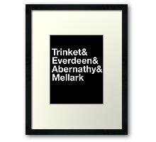 Trinket& Everdeen& Abernathy& Mellark Framed Print