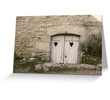 Heart Doors Greeting Card