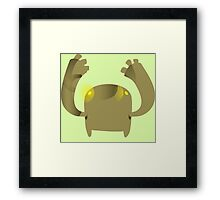 Firebog Flash Crasher Demon - glitch videogame Framed Print