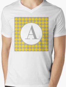 A Checkered Mens V-Neck T-Shirt