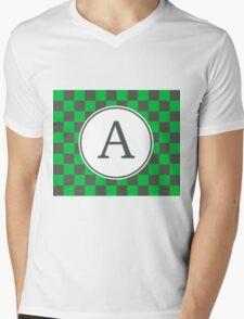 A Checkered II Mens V-Neck T-Shirt