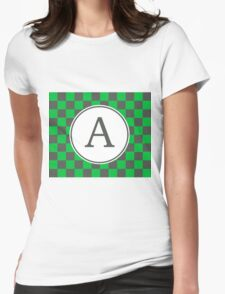 A Checkered II Womens Fitted T-Shirt